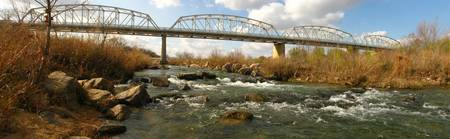Hiway 71 Bridge over Llano River - panorama