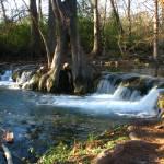 """Waterfall I on Cypress Creek, Wimberley, TX"" by MarksClickArt"