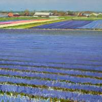 Purple Fields Art Prints & Posters by Rosepleinair - Roos Schuring Fine Art
