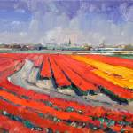 """""""Red Fields I"""" by Roos"""