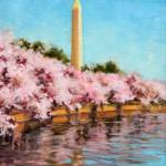 """Tidal Basin Cherry Blossoms"" by KimStenbergFineArt"