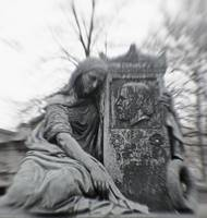 Widow Pere Lachaise Paris France
