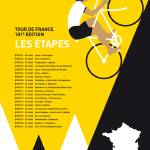 """MY TOUR DE FRANCE MINIMAL POSTER 2014-ETAPES"" by Chungkong"