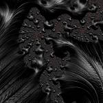 """Black on Black - A Fractal Abstract"" by AnnG"