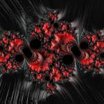 """Red on Black - A Fractal Abstract"" by AnnG"