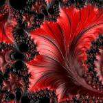 """Red on Black Macro - A Fractal Abstract"" by AnnG"