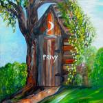 """Outhouse - Privy - The Old Outhouse"" by EloiseArt"