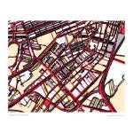 """""""South End Red"""" by carlandcartography"""