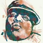 """Biggie Smalls Modern Etching Art Poster"" by visualharbour"