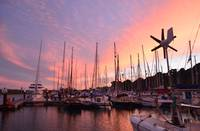 Sunset In An English Marina