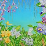 """""""Watercolour Orchids"""" by joeyartist"""