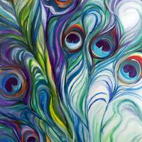 """PEACOCK ABSTRACT"" by Marcia Baldwin"