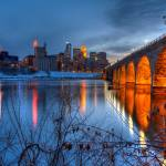 """Minneapolis Skyline Images Stone Arch Bridge"" by WaynePhotoGuy"