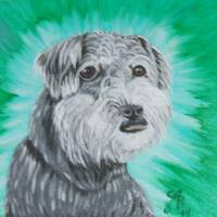 dog portrait (private sale) Art Prints & Posters by Cindy Beck