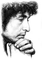 bob dylan art drawing sketch portrait