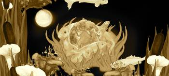 Sepia Earth Pond