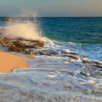 In the surf, Cupecoy Beach St. Maarten Art Prints & Posters by Roupen Baker