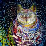 """Owl Under a Starry Night"" by JENLO"