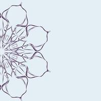 Digital drawing floral design in blue