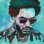 """lenny kravitz - Stylised Etching Pop Art Poster"" by visualharbour"