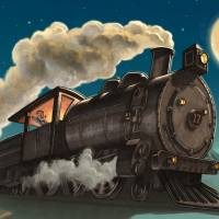 Nighttime Train Ride Art Prints & Posters by John Rocco