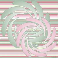 Pink and Green Flower Swirls