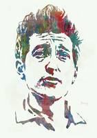 Bob Dylan - Stylised Etching Pop Art Poster