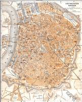 Vintage Map of Antwerp Belgium (1905)