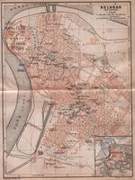 Vintage Map of Belgrade Serbia (1905)