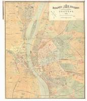 Vintage Map of Budapest Hungary (1884)