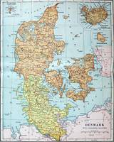 Vintage Map of Denmark (1905)