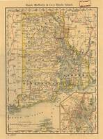 Vintage Map of Rhode Island (1875)