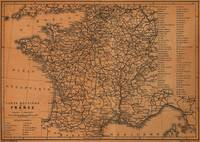 Vintage Map of Railroads in France (1914)