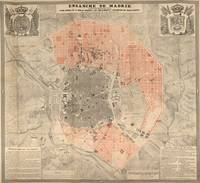 Vintage Map of Madrid Spain (1861)