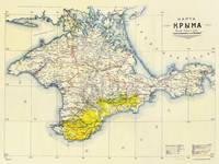 Vintage Map of Crimea (1922)