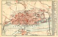 Vintage Map of Mainz Germany (1905)