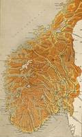 Vintage Map of Norway (1914)