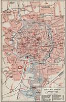 Vintage Map of Braunschweig Germany (1905)