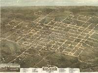 Vintage Pictorial Map of Raleigh NC (1872)
