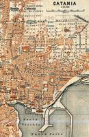 Vintage Map of Catania Italy (1905)