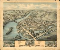 Vintage Pictorial Map of Birmingham CT (1876)