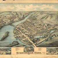 Vintage Pictorial Map of Birmingham CT (1876) Art Prints & Posters by Alleycatshirts @Zazzle