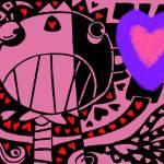 """VdayHeartBlackPinkBlue"" by MikeCressy"