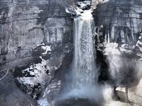 Taughannock Falls in the Finger Lakes (Black & Whi