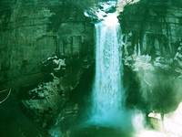 Taughannock Falls in the Finger Lakes (Green Tint)