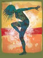Dancing Girl - Pop art etching poster