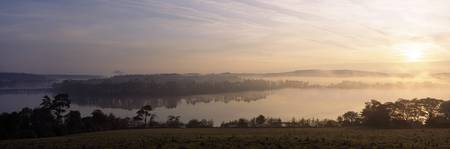 Morning Mist Over Vartry Lake, County Wicklow, Ire