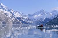 Alaska, Glacier Bay, View Of Snow Covered Mountain