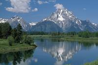 Mount Moran And Snake River, Grand Teton Mountains