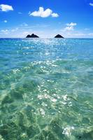 Hawaii, Oahu, Lanikai Beach, View Of Water, Sky, C